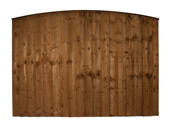 Heavy Duty Arched Feather Edge Panel 6ft x 4ft High Face